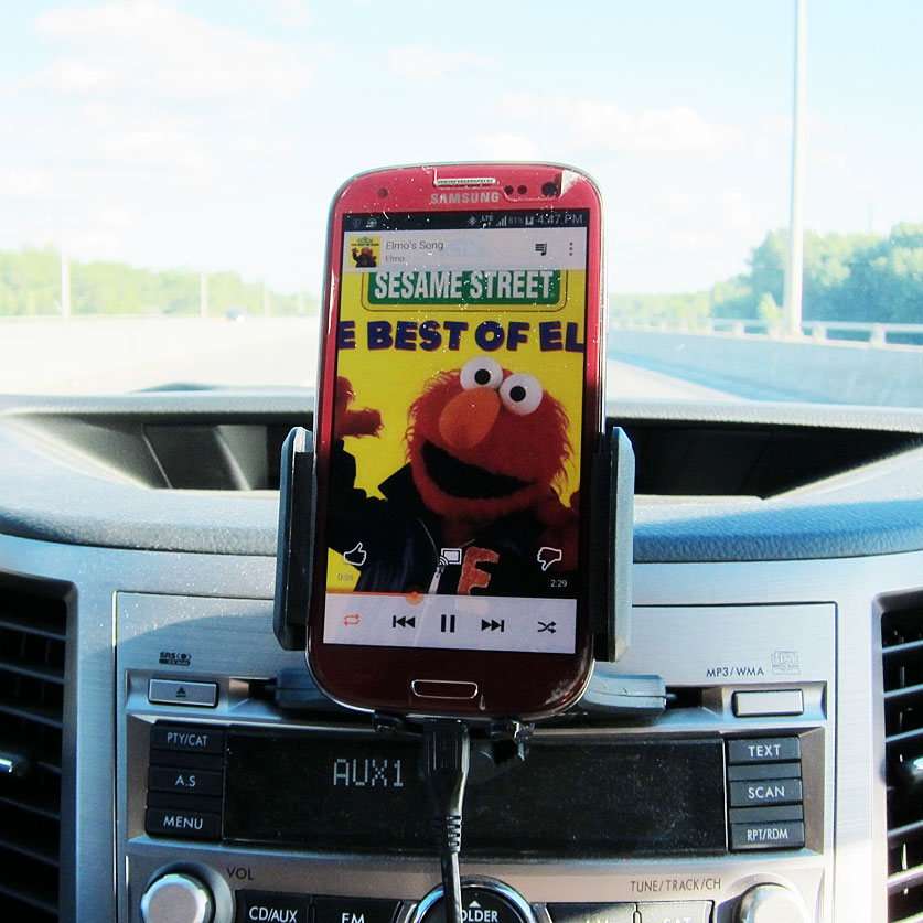 Elmo's Song playing in the car
