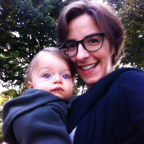 Boo and Mama on a walk