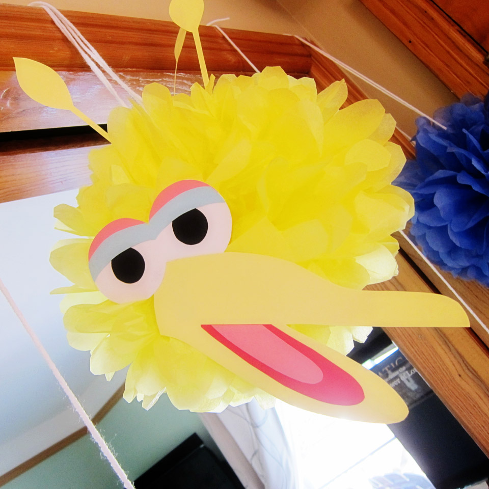 Big Bird Pom Pom