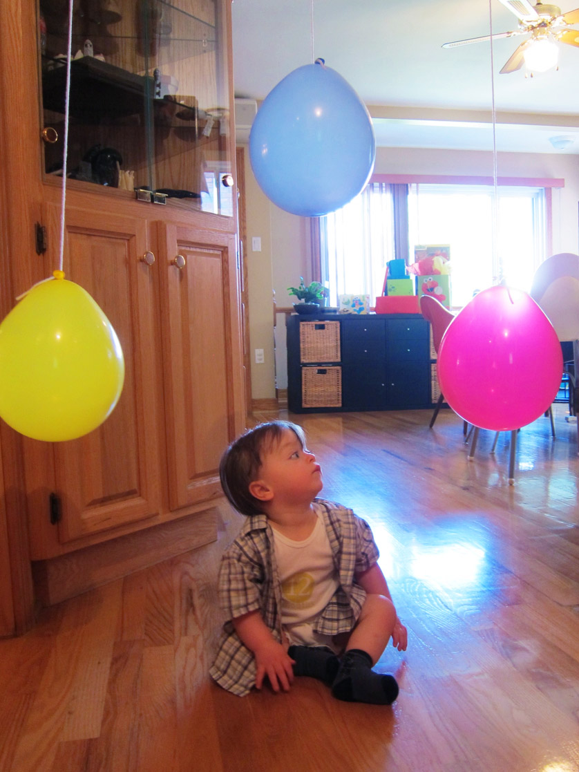 Boo and balloons