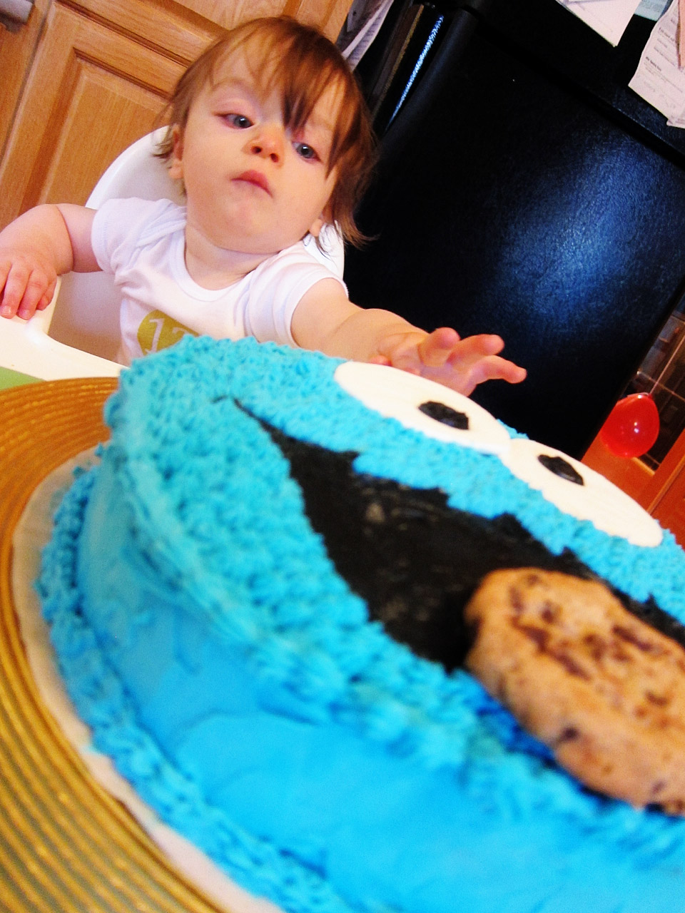 Boo Boo and his Cookie Monster cake
