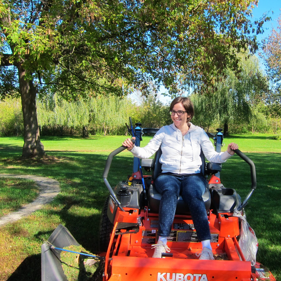 Riding the Kubota
