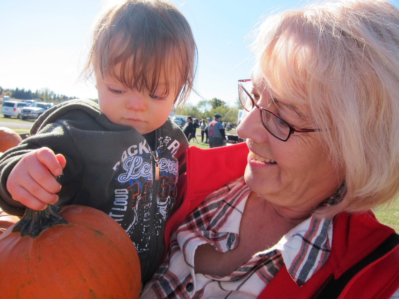 Nana, Boo and a pumpkin