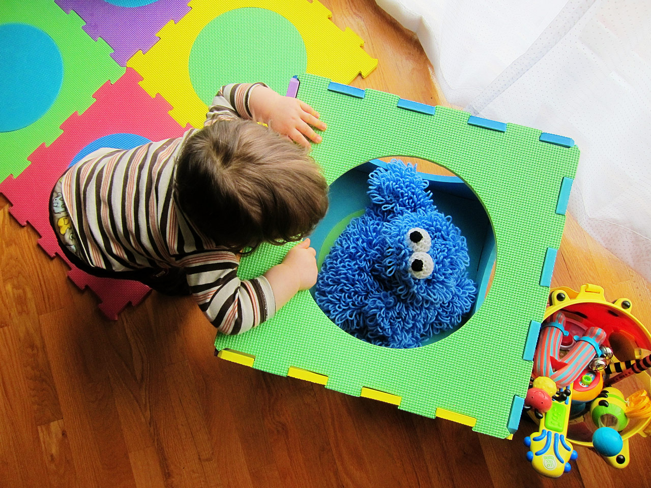Boo Boo gazes at Cookie Monster