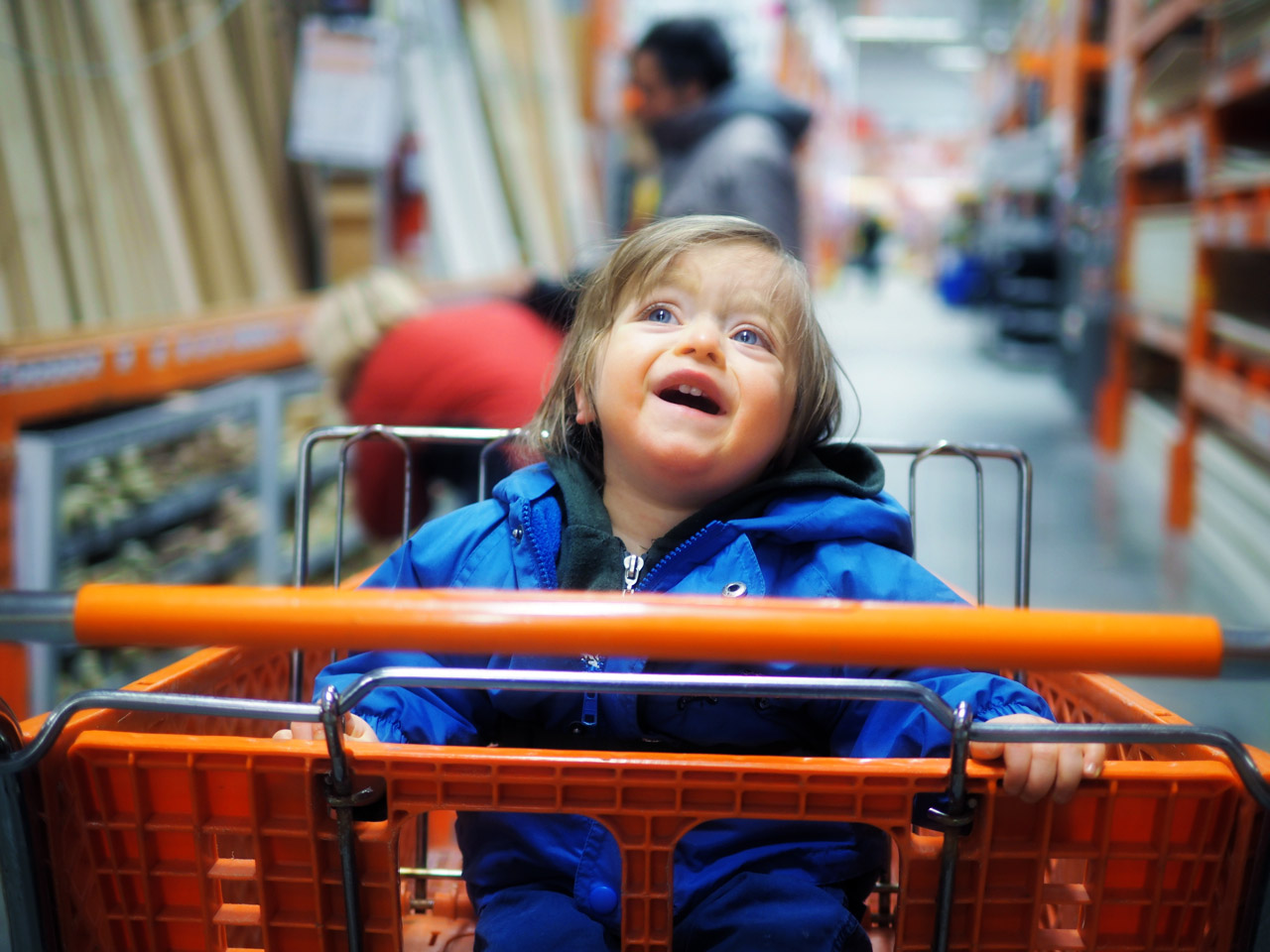Boo crying in Home Depot