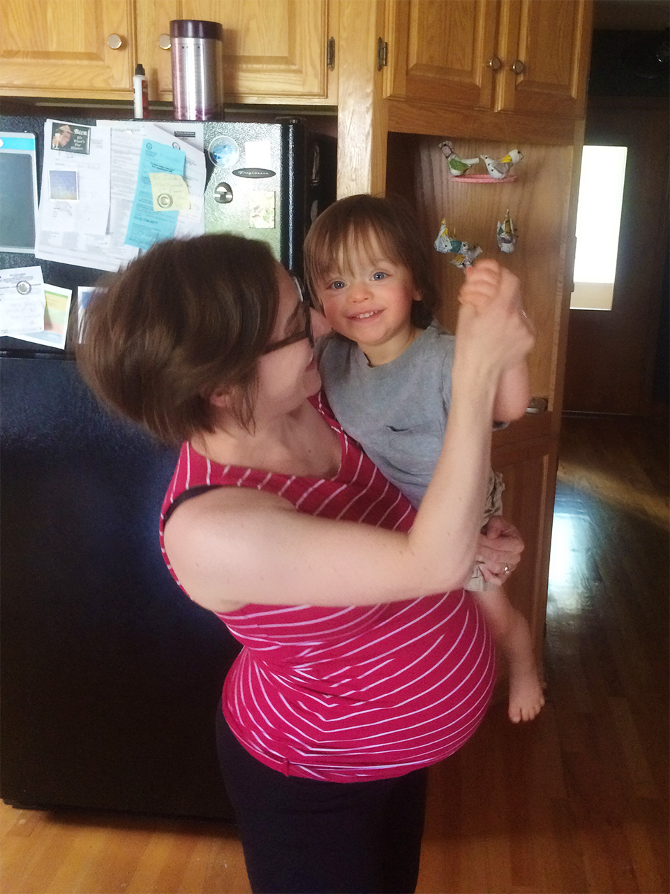 Boo dancing with Mummy