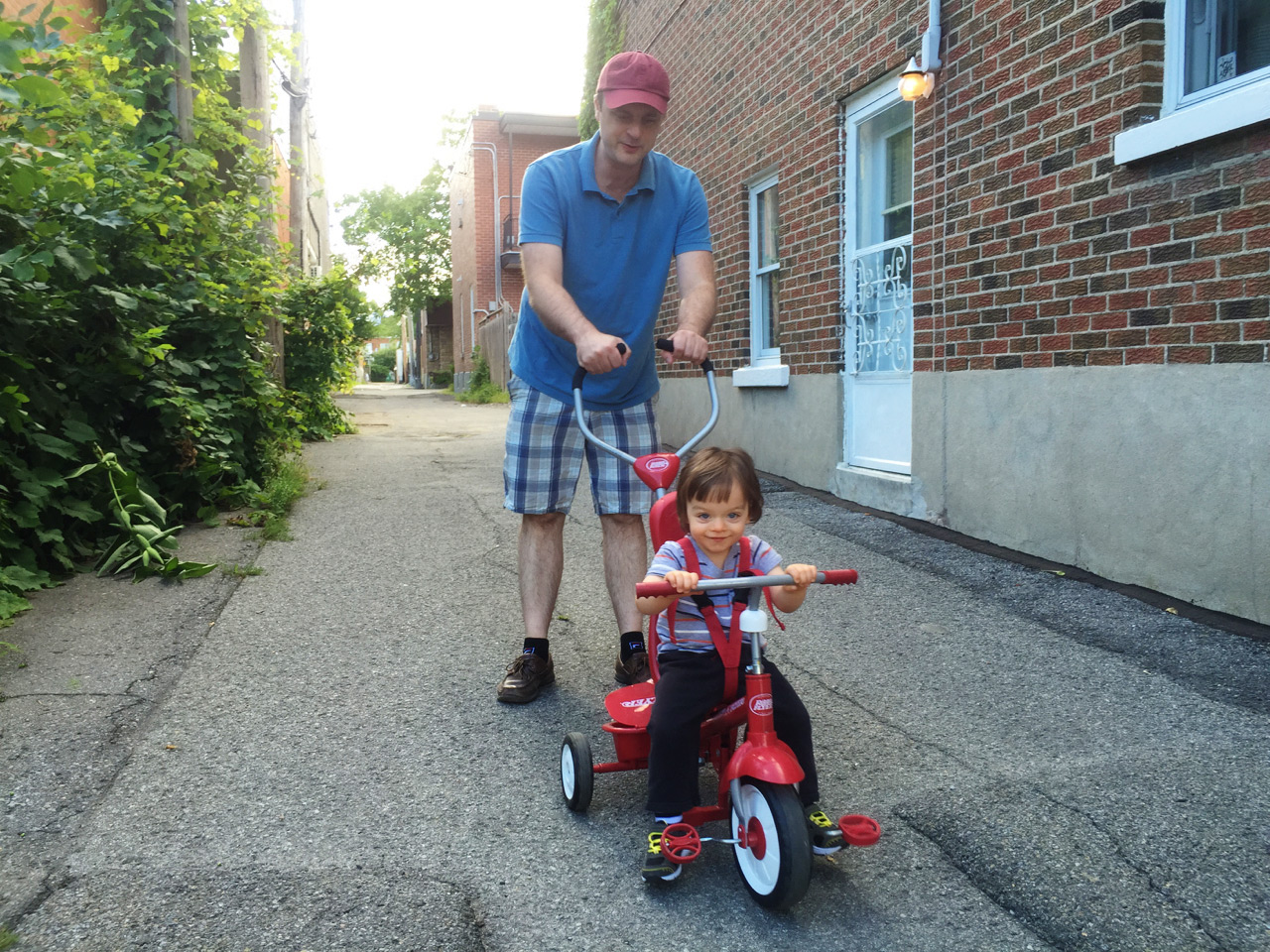 Hubby and Boo on his trike